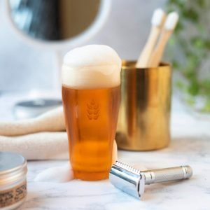 A soap that has been made to look like a pint of beer