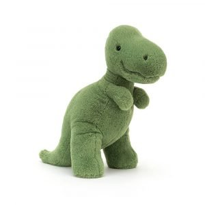 Gorgeous T Rex cuddly toy. 26cm tall in a beautiful moss green