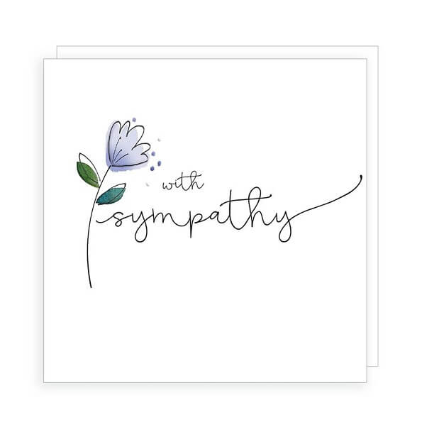 Simple but beautiful Sympathy card with a single flower.