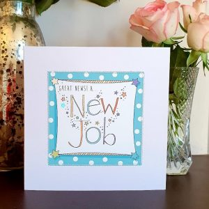 Great news, a new job card hand finished with stitching and silver stars