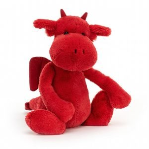A gorgeous cuddly red dragon from Jellycats Bashful range