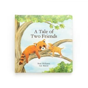 A Tale of two Friends is a story book from Jellycat about a sweet red panda and a little monkey who are best friends.