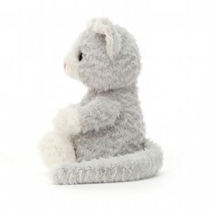 Mitten Kitten is the cutest little grey kitten from Jellycat. With a silver body white nose and paws.