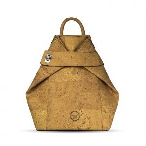 A fantastic backpack that has been made using cork leather. With a short handle on the top and double back straps for easy use.