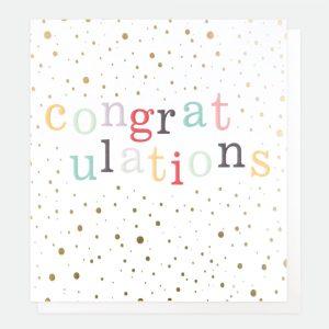 A spotty congratulations