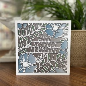 With Deepest Sympathy card with lovely floral design