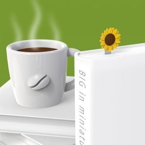 A fantastic sunflower bookmark on a long metal clip