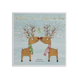 A lovely Brother and Sister in Law reindeers Christmas card