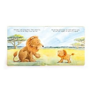 A sweet storybook from Jellycat with an image of a lion on the front of it. The book is called The Very Brave Lion.